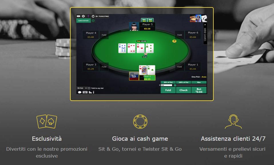 bet365 casino poker