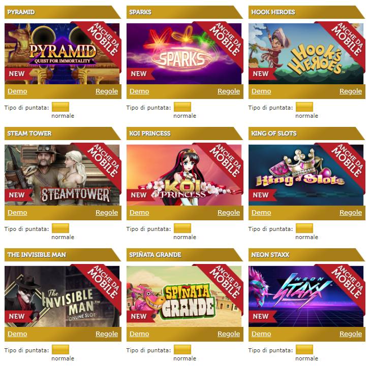 Gamenet casino Giochi Slot