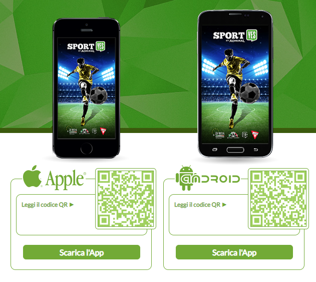 App mobile del SportYES per Android e iPhone   iOS