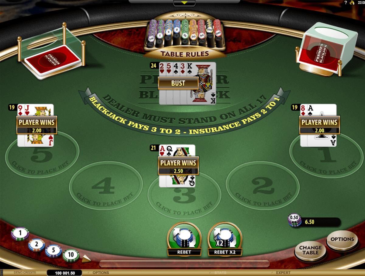 Premier Blackjack Multi-Hand Gold